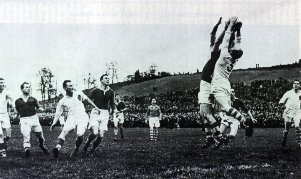 Tyrone GAA player Jim Devlin in action